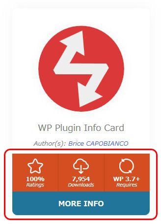WP Plugin Info Card カラースキームによって変わる部分 Cardレイアウト